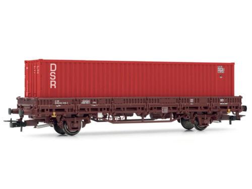 Rivarossi HR6306 Güterwagen Flachwagen mit Container DSR DB H0