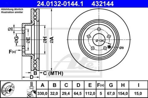 Beläge und Warnkontakt Vorderachse ATE Bremsenset Mercedes GLK X204 inkl