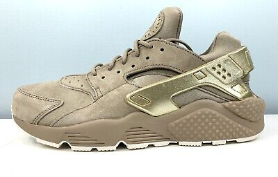 Documento Estereotipo Amoroso  Nike Air Huarache Run Premium Khaki Metallic Gold 704830-201 Men Size 8.5 |  eBay