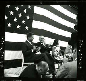 Lot JFK unpublished  John Kennedy Shots Photo Negative  Lyndon Johnson
