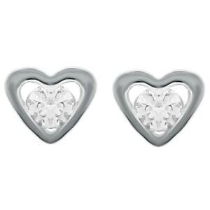 Boucles d'oreilles Coeur en Argent 925 rhodié et Swarovski® Zirconia - Femme