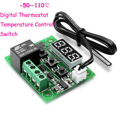 New -50-110°C Temperature Control Switch DC 12V Heat Cool Temp Thermostat YD