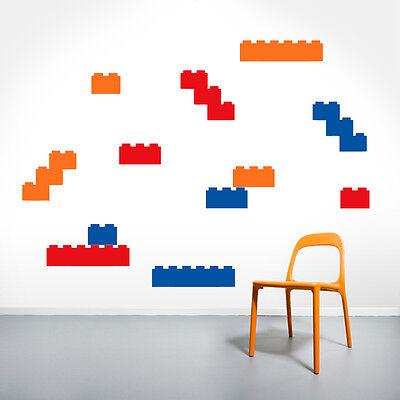 Set of Legos - Nursery & Kids Room Blocks Wall Decals