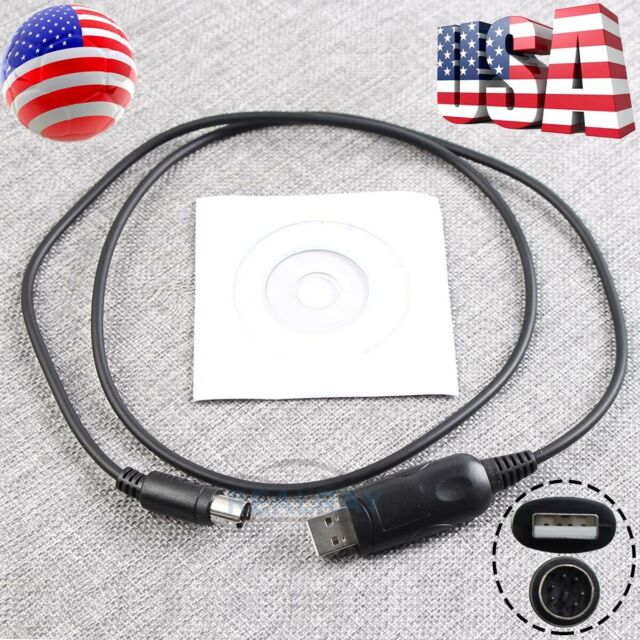 USB Cat Programming Cable &Software for Yaesu FT-600 FT-840 FT-890 FT-900 FT-757