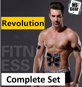 EMS Remote Control Abdominal Muscle Trainer Smart Body Building Fitness Abs