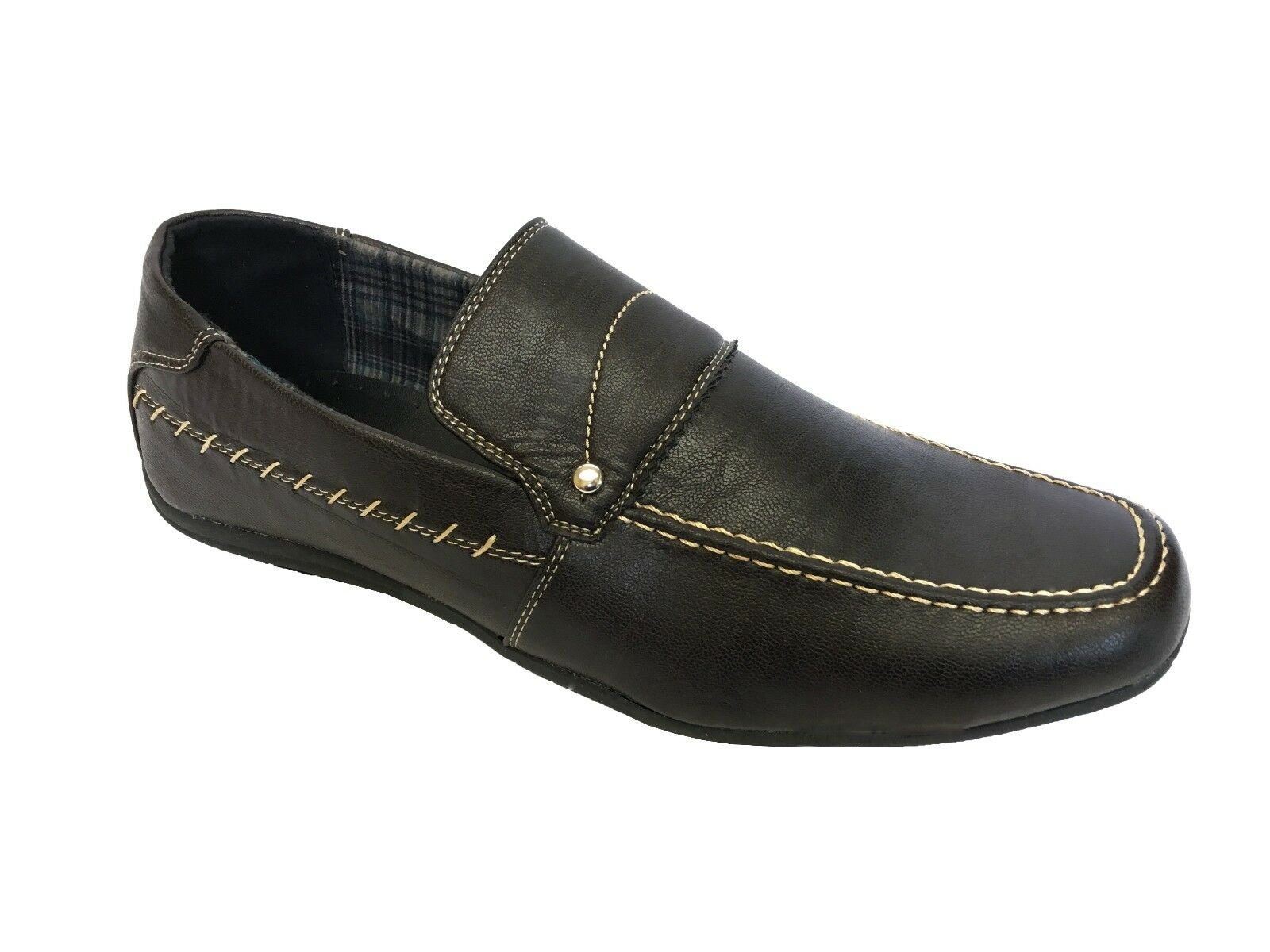 Mens Italian Slip On Casual Moccasin Loafers Driving Black Shoes Smart UK Size Black Driving 7a49d8