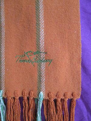 Echarpe THOMAS BURBERRY (fondateur de la marque) 100% Laine vintage scarf * | eBay