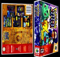 Pokemon Puzzle League - N64 Reproduction Art Case/box No Game.
