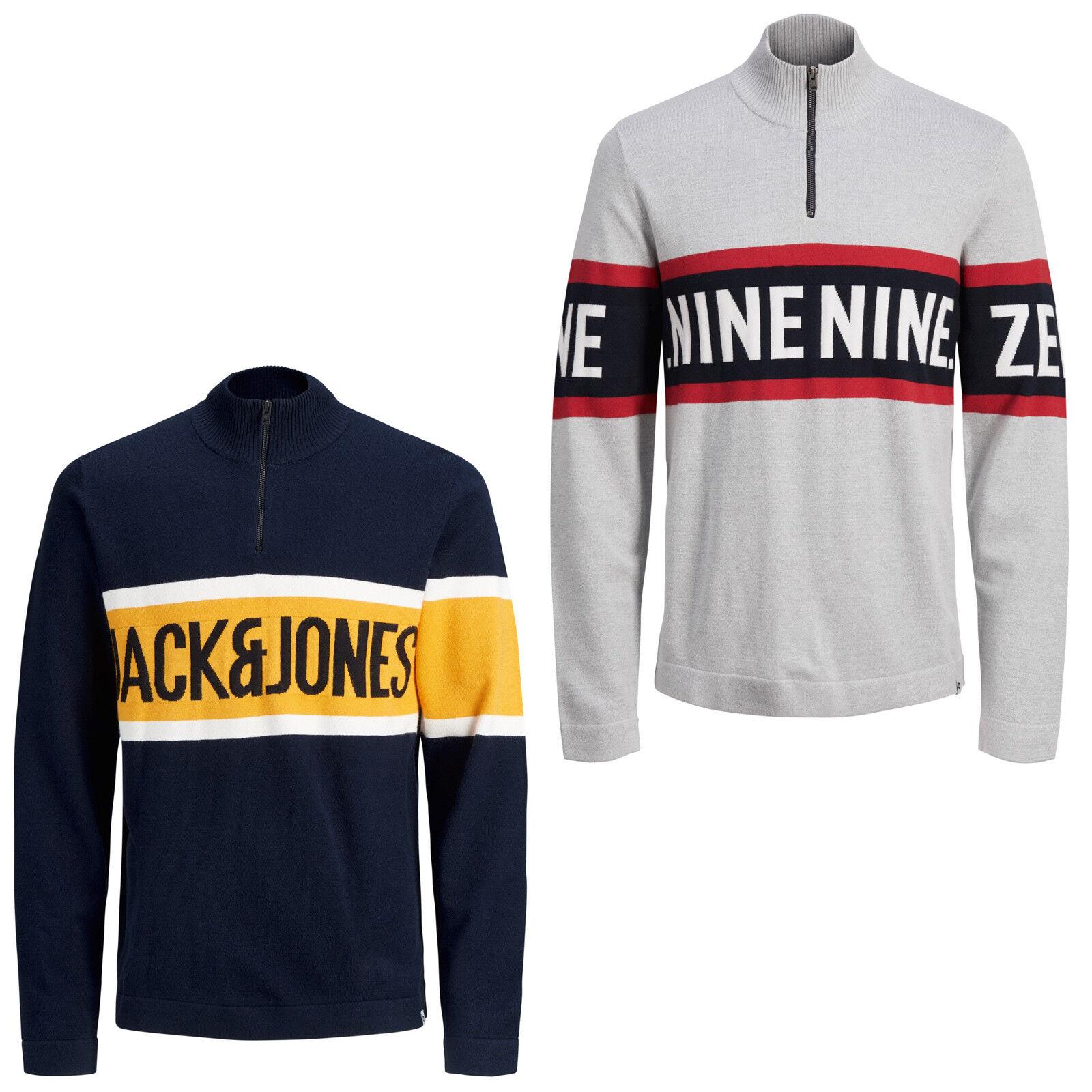 Jack & Jones Core Maglione Uomini collo Alto 1 4 Zip Maglione Maglia Jcoyork