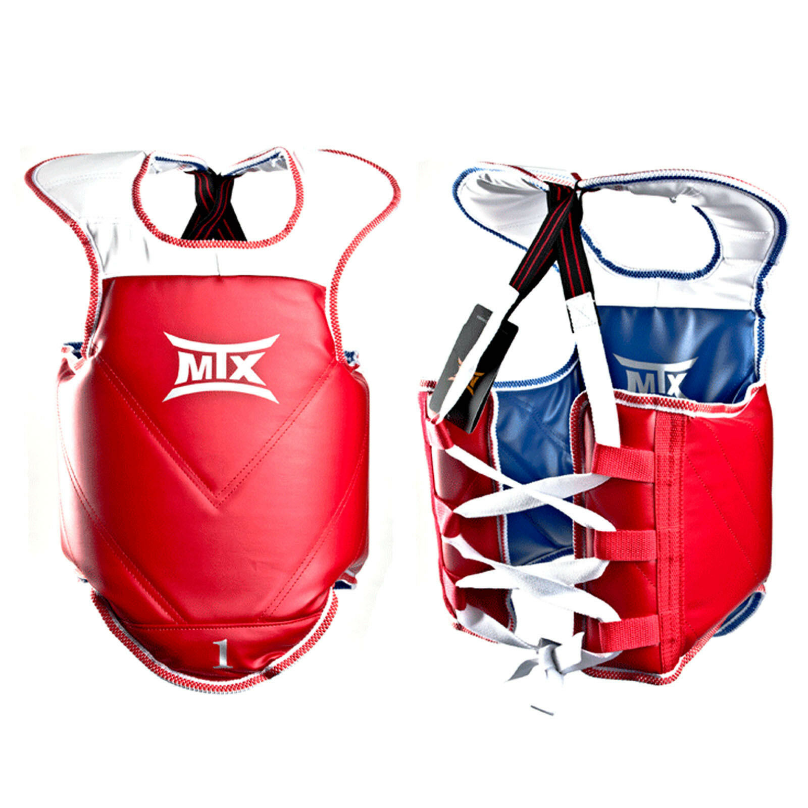 MTX Taekwondo Reversible Body Predector Chest Guard Red blueee WTF CE KTA TKD HKD