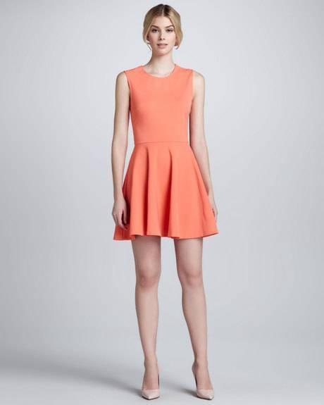 DVF Diane Von Furstenberg JEANNIE Fit and Flare Fitted Dress Bright pink
