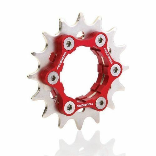FOURIERS Bicycle Cog 6-bolt Disc Brake Mount Fix Gear 16t 17 18 19 Single Speed
