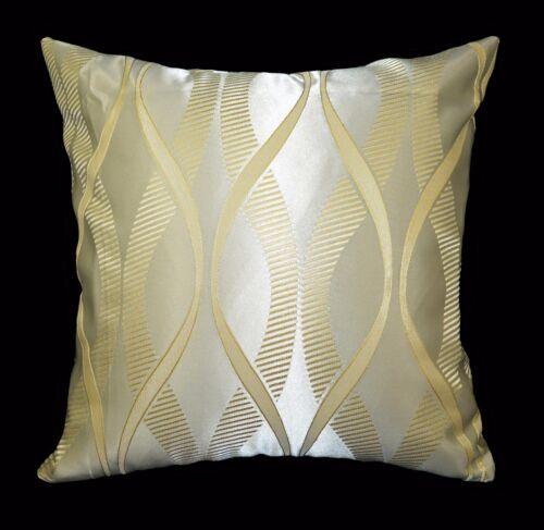 Gold Curve Jacquard Cushion Cover//Pillow Case Custom Size HC363a Pale Gold Lt