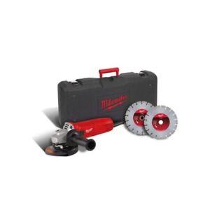 Smerigliatrice-Filo-Milwaukee-AG1000-125EK-D-1000W-125mm-2-Dischi-e-Valigetta