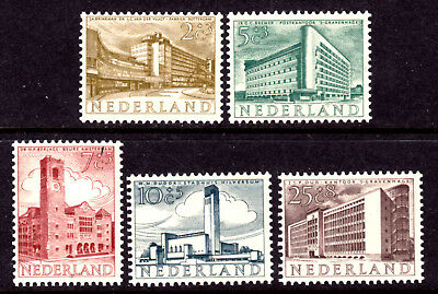 1954 Set/5 Workmanship Og-hinged Exquisite In F-vf Netherlands Semi-postal #b276-b280