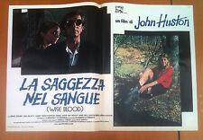 LA SAGGEZZA NEL SANGUE fotobusta poster Wise Blood Brad Dourif John Huston AF35
