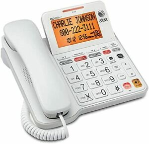 AT-amp-T-CL4940-Corded-Standard-Phone-with-Answering-System-and-Backlit-Display-Whit