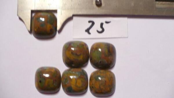 Leoparden Jaspis Cabochon 6 St 18 X 18 Mm Nr A 25 Ausgezeichnete (In) QualitäT