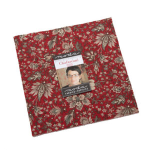 LAYER-CAKE-42-10-034-SQUARES-CHAFARCANI-MODA-FRENCH-GENERAL-13850LC-ROUGE-ROSE-GRAY