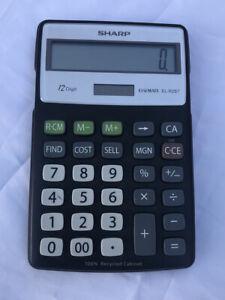 Sharp® EL-R287BBK Recycled Series Calculator w/Kickstand, 12-Digi 074000019041