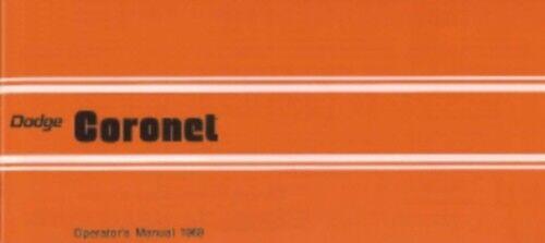 DODGE Coronet 1969 Owner's Manual 69 Coronet