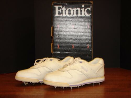 Woman's Etonic Vintage Sneakers With Cleats Size 8