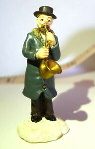 Victorian-Village-Saxophone-Player-Christmas-Grandeur-Noel-1999-Replacement