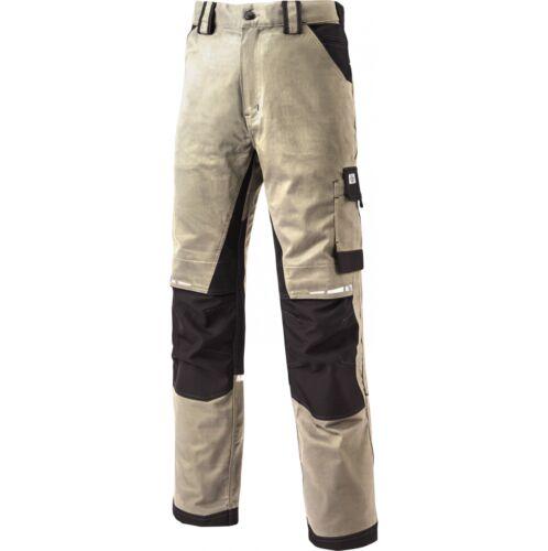 Dickies GDT Premium Rinforzato Pantaloni Da Lavoro Uomo Nero e Grigio varie dimensioni