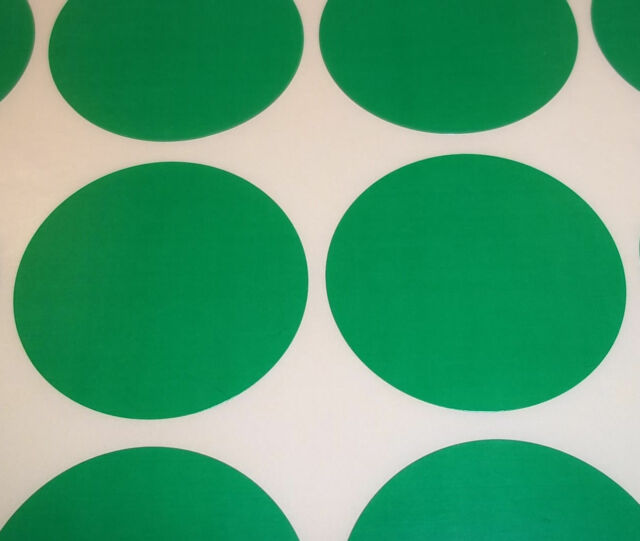 100 Green 15mm 1//2 Inch Colour Code Dots Round Stickers Sticky ID Labels