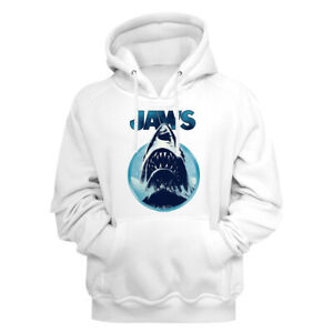 Jaws-Movie-Jaws-Coming-Out-Of-The-Water-White-Adult-Pullover-Hoodie