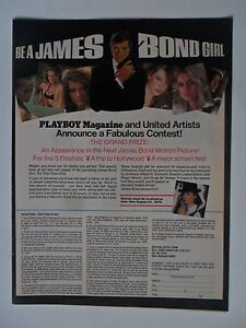 1979 Be A JAMES BOND Girl Playboy Magazine /& United Artists Contest VINTAGE AD