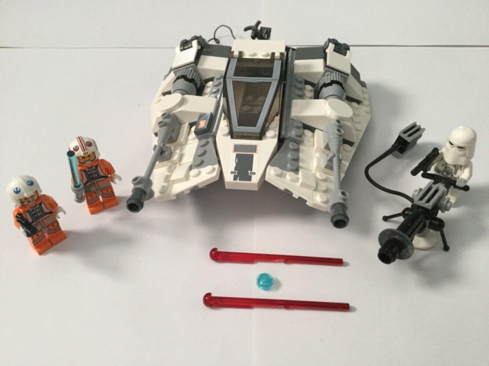 Lego  75049. estrella guerras Snowspeeder with Luke cielowalker e two more minicifras  vendita scontata