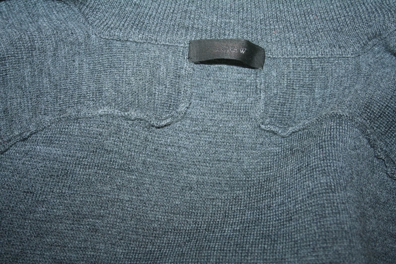 J.CREW COLLECTION CALF HAIR HAIR HAIR PANELS ZIP CARDIGAN SIZE S SAMPLE ONE OF A KIND GREY 8461fa
