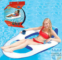 Inflatable Luxury Floating Lounger Spring Float Luxury Lilo Swimway Pool Holiday