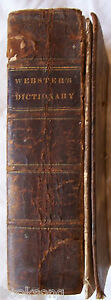 1ST-ABRIDGED-AMERICAN-DICTIONARY-of-the-ENGLISH-LANGUAGE-WEBSTER-1829-V-RARE
