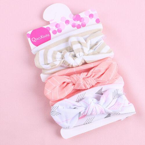 3Pcs Kid Floral Headband Girl Baby Elastic Bowknot Accessories Cute Hairband Set