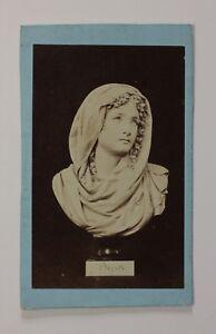Foto Un Scultura Cahours Parigi Francia CDV Foto Pl48S2n13 Vintage Albumina