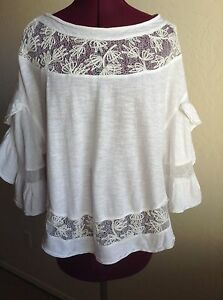 Lace Front Knit Blouse Utmost In Convenience Mixed Items & Lots