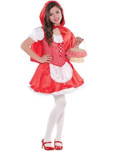 Bambino Lil Little Red Riding Hood Costume Ragazze Halloween