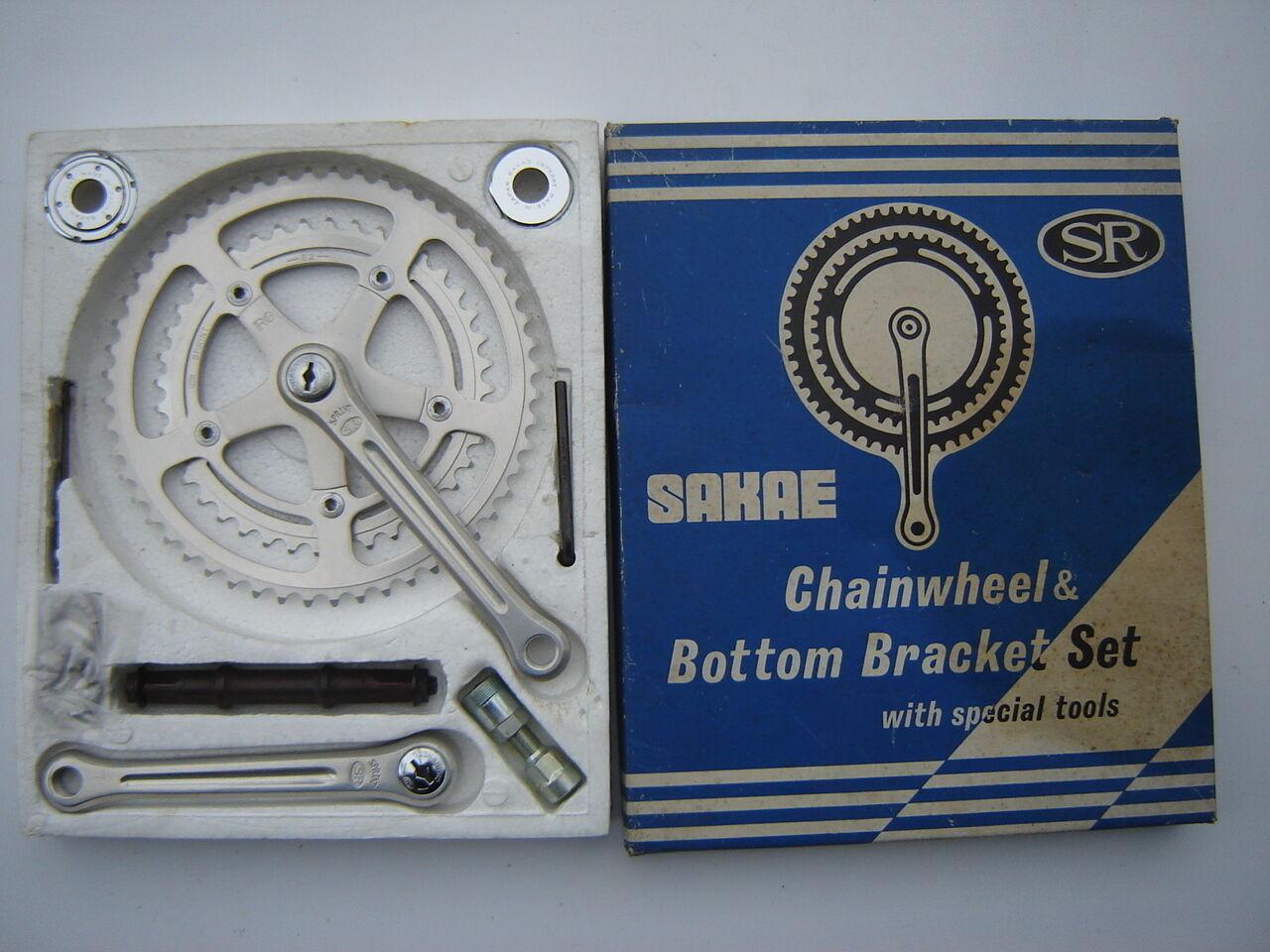 SAKAE RINGYO SR SPRINT RG CRANKSET 40 52  165 mm + ENGLISH BB + TOOLS - NOS -NIB