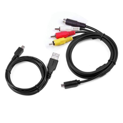 AV A//V TV+USB Data SYNC Cable For SONY DCR-SR290 DCR-SR200//e HDR-FX5//e HDR-FX7//e