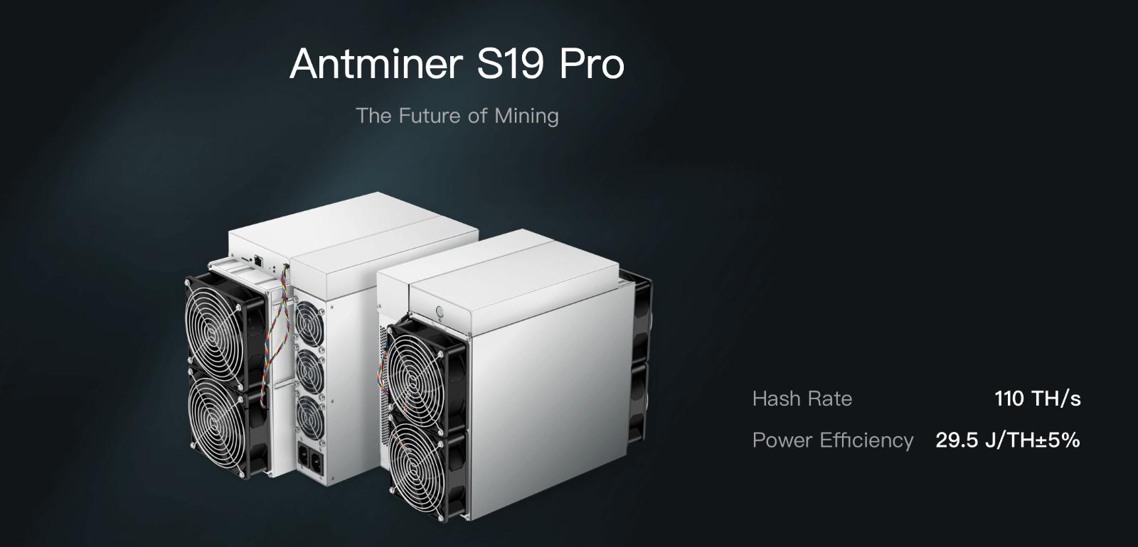 BITMAIN AntMiner S19 Pro (110 TH/S) Bitcoin Miner SHA-256 1