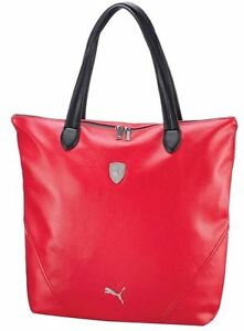 2ca06627b0 PUMA FERRARI WOMEN'S F1 TEAM SHOPPING TOTE LARGE BAG RED PMMO1033 ...