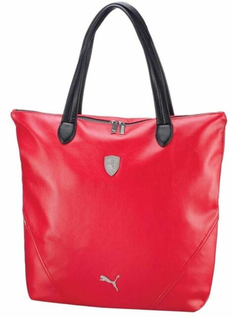 Puma Ferrari Women S F1 Team Ping Tote Large Bag Red Pmmo1033 New W Defects