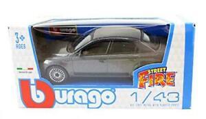 Burago-1-43-Diecast-Modelo-Coche-Alfa-Romeo-159-en-la-calle-Gris-Metalizado-fuego