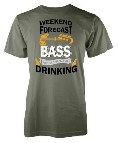 Weekend Forecast Bass Drinking Guitar Adult T Shirt