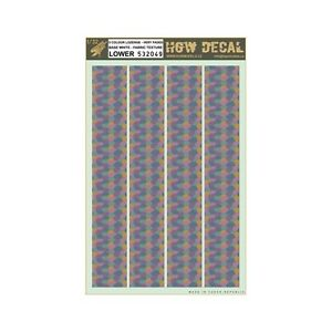 5 COLOUR LOZENGE transparent FADED 548022 HGW Decal