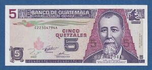 GUATEMALA-5-QUETZALES-16-6-1995-UNC-PICK-88b