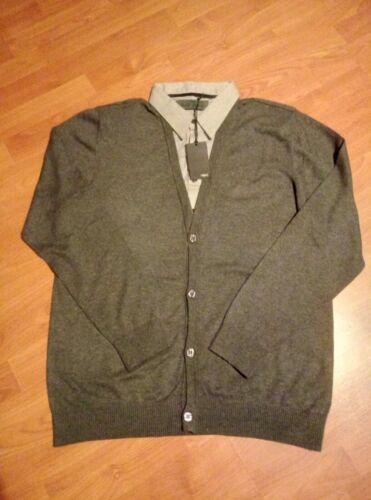 BNWT per uomo maglia Camicia grande grigio lato davanti taglia qOrqpx