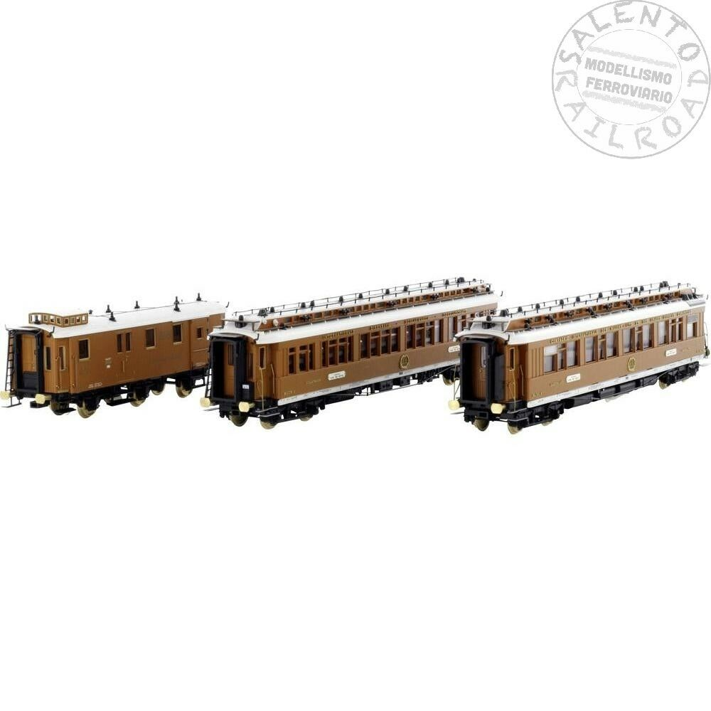 H44010 set di tre carrozze CIWL Ostende Wien Express epoca I